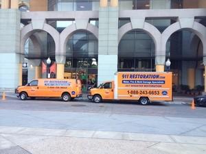 Water Damage Restoration Vans